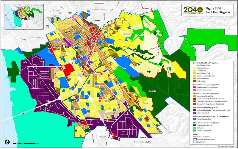 Land Use Diagram And Land Use Designations Hayward Eplan