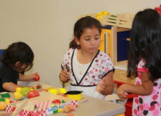 Hayward children participating in a Library Learn and Play Group.