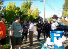 Hayward Police building relationships with the Woodland Estates community.