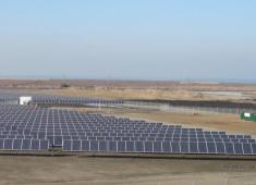 Solar panels at City of Hayward Water Pollution Control Facility.