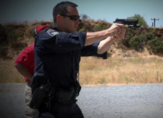Hayward Police officers engaged in training programs.