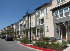 Example of townhomes constructed in the Cannery Transit Neighborhood.