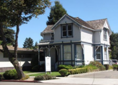 Example of a home to office conversion that retained the character of the residential neighborhood.