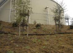 Water storage tank in the Hayward hills.