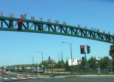 Gateway sign for Downtown Hayward.