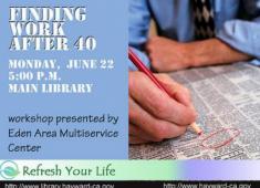 Job Training program offered at the Hayward Library.
