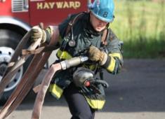 Hayward Fire Department responding to local emergencies.