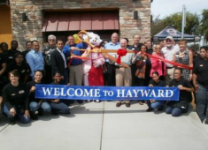 Business grand opening.  Courtesy of the Hayward Chamber of Commerce.