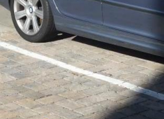 Use of pervious pavers in parking lot design.
