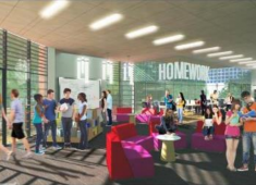 Conceptual images of the planned Downtown Library.