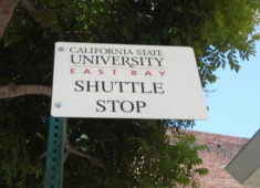 A shuttle service for California State University, East Bay was established in 2013 to connect the campus to Downtown Hayward.