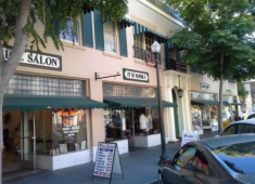 Buildings that contribute to the historic character of Downtown Hayward.