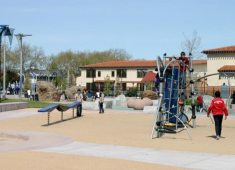 Playground at Burbank Elementary School that serves as a joint-use recreational facility.