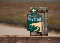 Signage for the Bay Trail in Hayward.